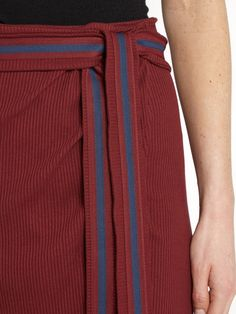 Click here to buy Albus Lumen Porto cotton-blend ribbed-jersey wrap skirt at MATCHESFASHION.COM
