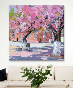 Yuri Pysar Sakura Hugs Gallery-Wrapped Canvas by iCanvas #zulily #zulilyfinds