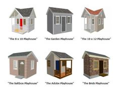 1000 images about playhouse on pinterest playhouse for Playhouse with garage plans
