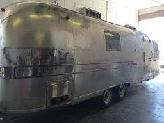 Before pic- Our very patient detailer buffed this Classic Airstream untill it looked shiny and new Mobile Rv Repair, Rv Parts, Airstream, Colorado Springs, Train, Classic, Derby, Classic Books, Airstream Trailers
