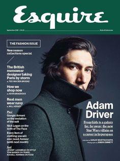 Adam Driver Photographed by Simon Emmett for Esquire Sept 2015