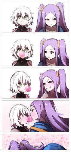 Jack the Ripper x Wu Zetian (Fate/X) Kawaii Anime, Loli Kawaii, Yuri Anime, Otaku Anime, Manga Anime, Anime Comics, Anime Art Girl, Manga Art, Accel World