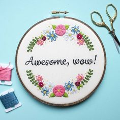 Floral awesome embroidery.