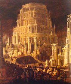 Monsù Desiderio (François de Nomé) (Metz 1593, dernier tableau signé : 1630) La Tour de Babel
