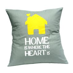 Home is Where the Heart is - Handmade Cushion Cover - hardtofind.