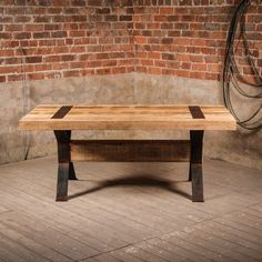 Buy Industrial Style Rustic Elk Dining Table by J. Rusticus from our Furniture range - Elk Range - @ J. Dinning Table, Dining Bench, Industrial Style Furniture, Outdoor Tables, Outdoor Decor, Reclaimed Timber, Handmade Furniture, Rustic Charm, Outdoor Furniture