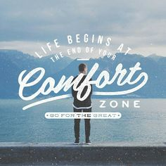 Instagram: 'Life begins at the end of your comfort zone' by @faridz_ayish via @lettering_co