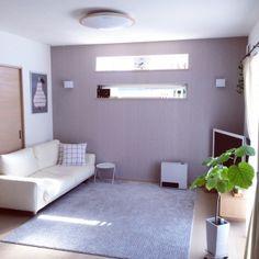 アクセントクロスの人気の写真(RoomNo.1546488) Decor, Furniture, Living Room, Bed, Home, Interior, Bedroom Paint, Home Decor, Room