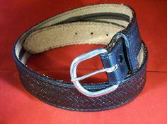 Custom Leather MONEY Belt with Black by legacyleathercraft on Etsy, $34.95