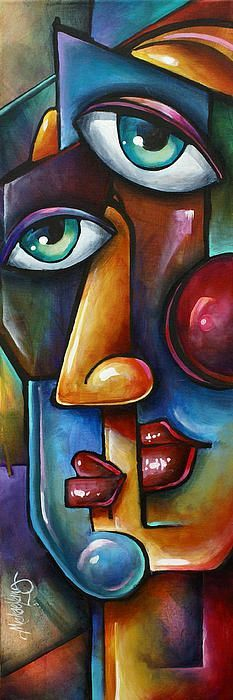 Merge by Michael Lang - Malerei Kunst Cubist Art, Abstract Art, Pintura Graffiti, Tableau Pop Art, Picasso Art, Picasso Paintings, Pablo Picasso, Canvas Art, Canvas Prints