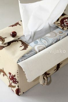 Damask floral rectangular tissue box cover by vijako on Etsy