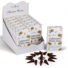 Stamford Hex Incense Cones - Californian White Sage (12 Packs) Incense Cones, Stamford, Sage, Decorative Boxes, Packing, Bag Packaging, Salvia, Decorative Storage Boxes
