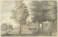 Hermanus Petrus Schouten | Plein in het dorp Zuilen, Hermanus Petrus Schouten, 1757 - 1822 |