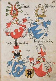 Wappenbuch des St. Galler Abtes Ulrich Rösch Heidelberg · 15. Jahrhundert Cod. Sang. 1084 Folio 206