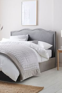 Buy Delilah Vintage Ottoman Storage Bed from the Next UK online shop Ottoman Storage Bed, Ottoman Bed, Bed Next, Grey Ottoman, Master Bedroom, Bedroom Decor, Superking Bed, Grey Houses, Grey Bedding