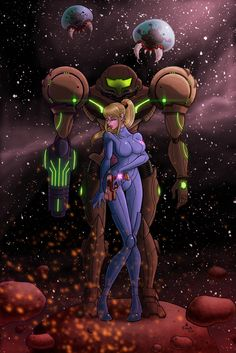 Samus better put that suit back on! by artofjared.deviantart.com