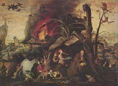 Jan Mandijn - La tentation de Saint Antoine
