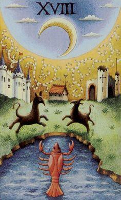 Old English Tarot -- the Moon