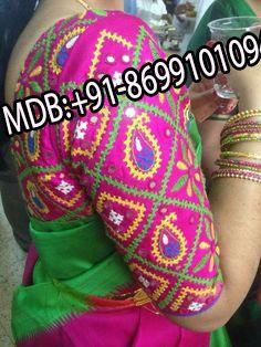 Simple Blouse Designs, Sari Blouse Designs, Bridal Blouse Designs, Blouse Patterns, Kurti Embroidery Design, Hand Embroidery Designs, Hand Work Design, Kutch Work Designs, Bollywood