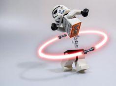 by BigRedCurlyGuy on DeviantArt Star Wars Jedi, Lego Star Wars, Legos, Lego Portrait, Figurine Lego, Lego Stormtrooper, Miniature Photography, Lego Photography, Lego Knights