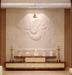 Living Room Partition Design, Living Room Tv Unit Designs, Room Partition Designs, Pooja Room Door Design, Home Room Design, Temple Design For Home, Home Temple, Mandir Design, Meditation Room Decor