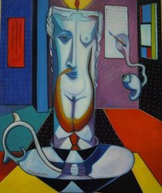 "PASQUALE VINCIGUERRA ""Nature morte nel tempo immaginario"" - painting - oil on canvas"