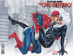 Spider-man & Black Cat first kiss, in Marco Santucci's Commissions Comic Art Gallery Room Spiderman Black Cat, Spiderman Girl, Black Cat Marvel, Spiderman And Blackcat, Marvel Girls, Marvel Art, Bucky Barnes, Narnia, Comic Books Art