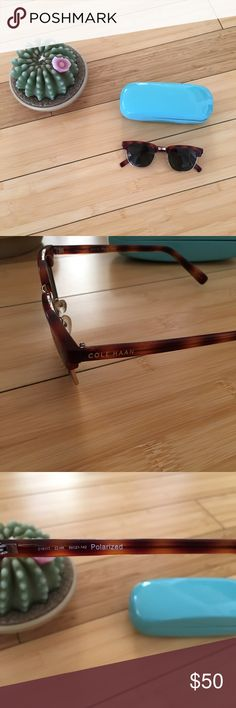 Cole Haan Polarized Sunglasses Polarized Cole Haan sunglasses! Only worn a handful of times. Some slight signs of wear. I don't have a Cole Haan case but I'll give you this Kate Spade case instead! Tortoise Shell frame. Cole Haan Accessories Glasses