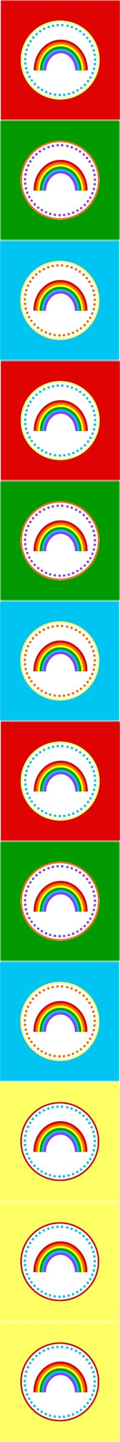 Rainbow Party Circles