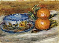 Pierre Renoir Cup And Two Fruit