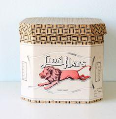 Vintage Lion Hats box