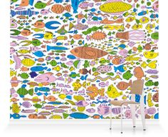 Murals of Fish by Rattlecat (3000mm x 2400mm) | Shop | Surface View