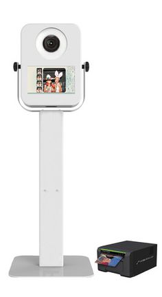 HootBooth MINI Photo+Social Booth Kiosk with Photo Printer - Includes