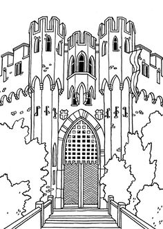 Great Castles - Games - Castle Coloring Book | Castle Coloring Pages ...