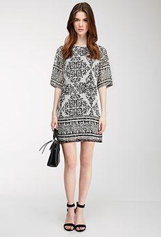 Contemporary Tribal Print Shift Dress   Forever 21 - 2000136255