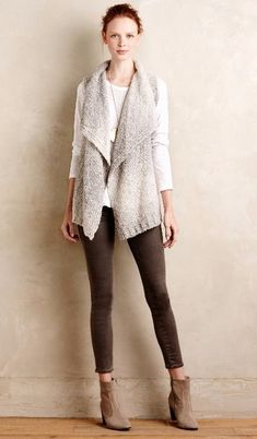 b46294978c9f11 A sleeveless sweater vest thing like this style  cream