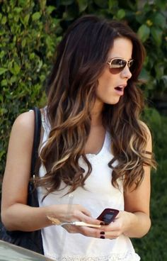 Brown hair with peek a boo carmel highlights hairstyles light brown ombre highlights on dark brown hair pmusecretfo Gallery