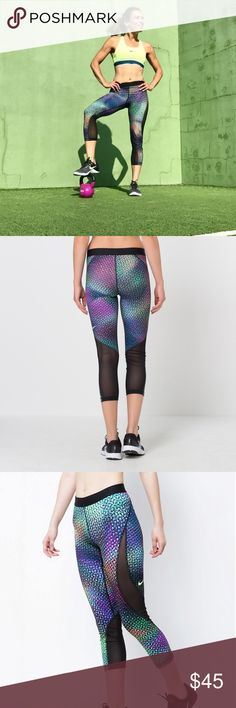 NIKE PRO Printed thighs Step up you game at the gym with this fabulous NIKE pro hypercool women's training capris compression fit that keeps everything right to the body for maximum support.  Brand new with tags  *PLEASE NO TRADES * Nike Pants Capris