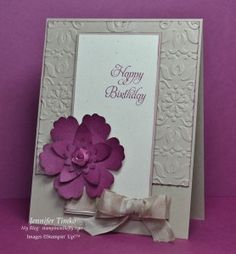 Blossom, 5-Petal Flower, Boho Blossoms. Vintage Wallpaper ef. Crumb Cake & Rich Razzleberry. by Jennifer Timko