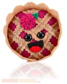 Mini Raspberry Pie! Plush food from sunrisepancake.com $9.99