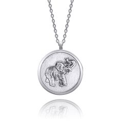Elephant Necklace, Black Backgrounds, Pocket Watch, Pendants, Pendant Necklace, Sterling Silver, Chain, Handmade, Accessories
