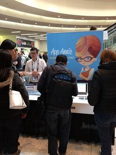 Junde Yu, Director of Business Development, holding it down at GDC