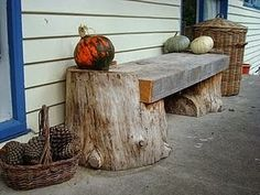 Rustic Log Furniture: The Magic of Wood Outdoor Projects, Garden Projects, Wood Projects, Into The Woods, Garden Furniture, Outdoor Furniture, Outdoor Decor, Furniture Ideas, Tree Stump Furniture