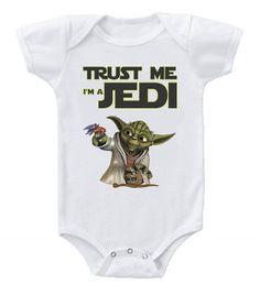 Funny Humor Custom Baby One-Piece Bodysuits Creeper Trust Me Star Wars Jedi Star Wars Baby Clothes, Funny Baby Clothes, Cute Funny Babies, Baby Kids, Baby Boy, Newborn Photography, Photography Ideas, Star Wars Jedi, Baby Carriage