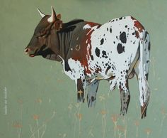 Bull Painting, Painting & Drawing, Cow Names, Pet Cows, Cowboy Art, Friesian, Animal Paintings, Cattle, Pet Portraits