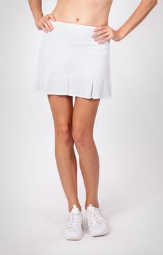"Tail Ladies & Plus Size Doral Pleated Tennis Skorts - """"Essentials"""" (White)"