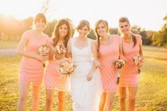 pink lace bridemsaid dresses  #LaceBridesmaidDresses  #PinkBridesmaidDresses  #PinkWeddings
