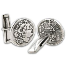 Alexander The Great  Lysimachos Tetradrachm Coin  by culturetaste (Accessories, Cuff Links, Men, accessories, jewelries, cufflinks, Alexander, The Great, Tetradrachm, coin, Zeus Amon, Goddess Athena, Lysimachou, Nike, everyday use, gift)