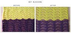 How to wet block your crocheted or knitted items | Haak Maar Raak