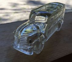 Vintage Millstein Woody Station Wagon Clear Glass Candy Container | eBay